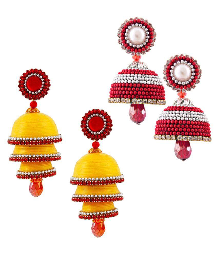 Rajrani Emporium Set of Two Pretty Looking Multicolor Jhumki