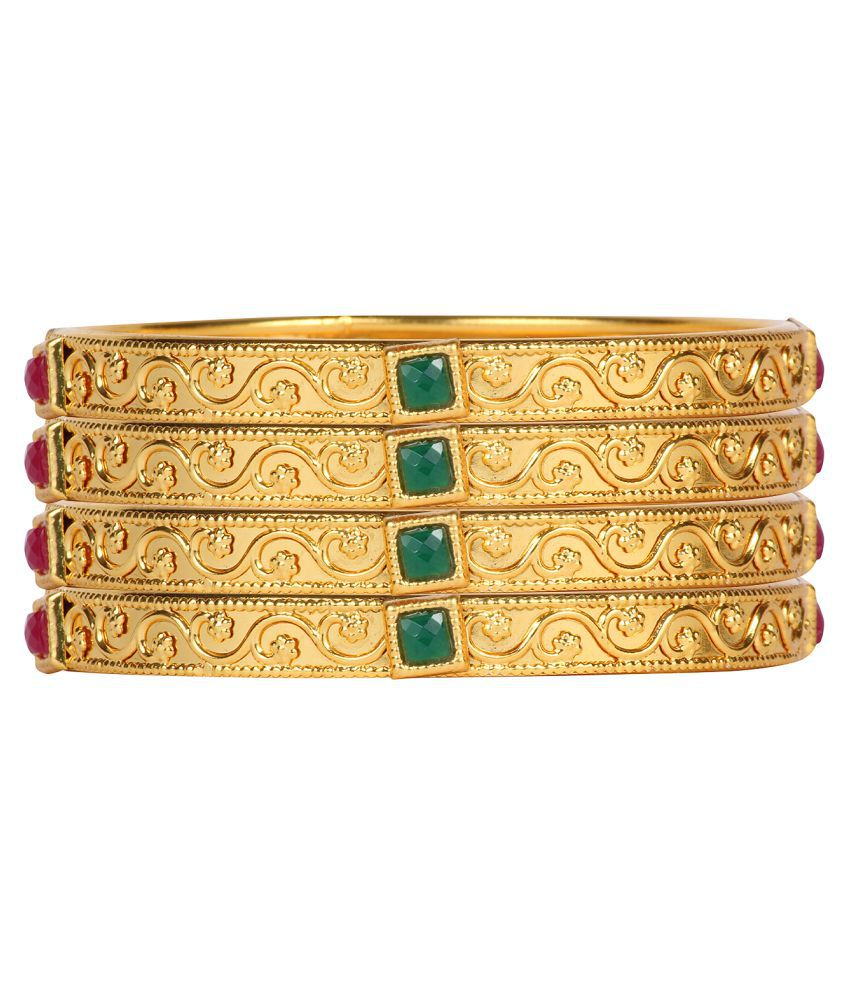 Ds Gold Plated Multicolour Every Ocassion Bangles for Women (Ds250)