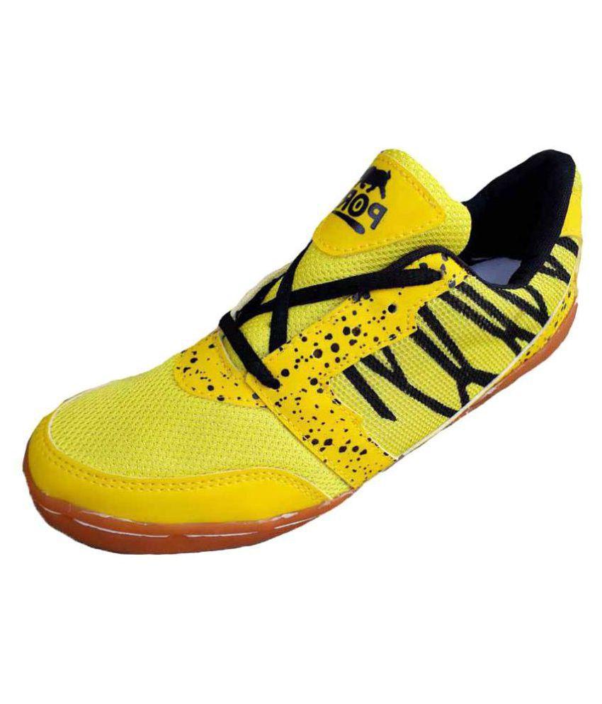 Comex Yellow Badminton Shoes