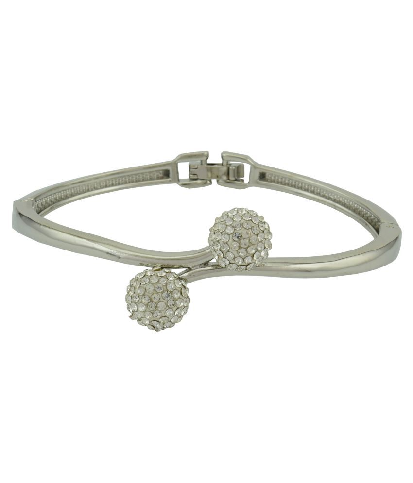 High Trendz Stylish & Trendy Sparkling Silver Bangle For Women And Girls