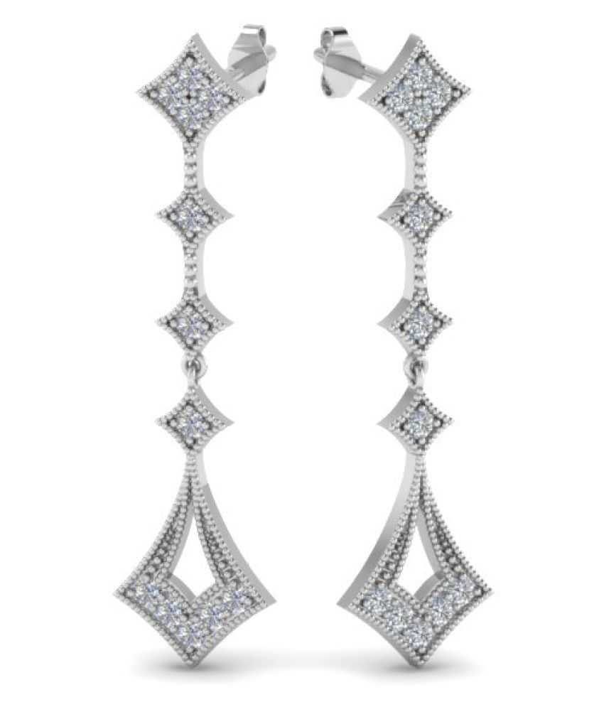 Naitik Jewels 92.5 Silver Cubic zirconia Hangings