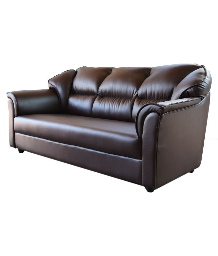 Superb Westido Manhattan 3 1 1 Sofa Set In Brown Leatherette Buy Cjindustries Chair Design For Home Cjindustriesco