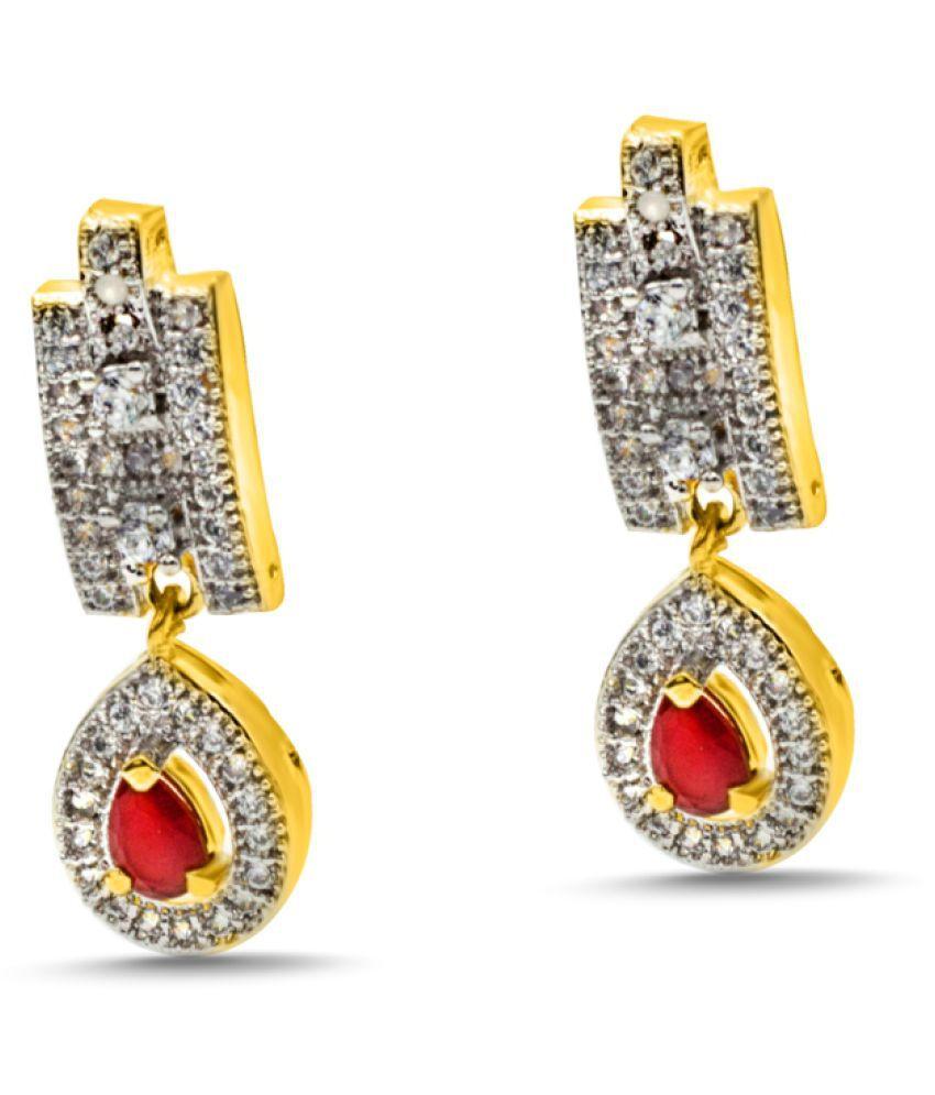darsh jewel hut gold alloy earring for girls