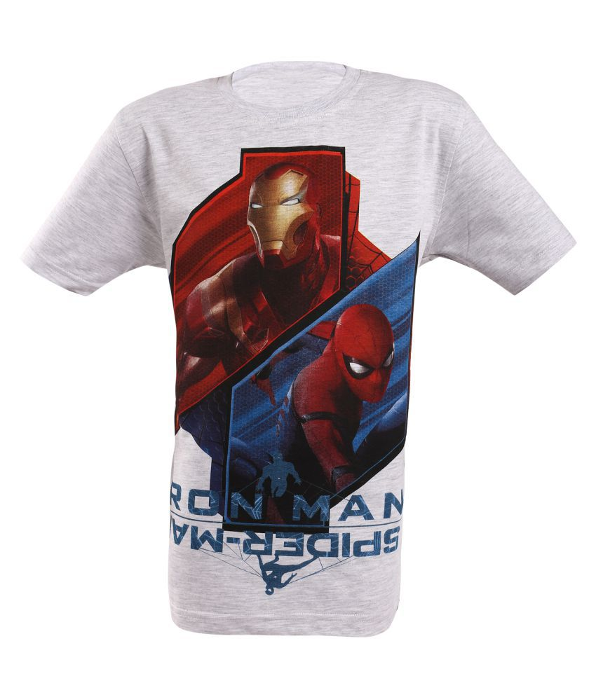 8e6153b93 Spiderman Ironman Boys Graphic Printed T shirt - Buy Spiderman Ironman Boys  Graphic Printed T shirt Online at Low Price - Snapdeal