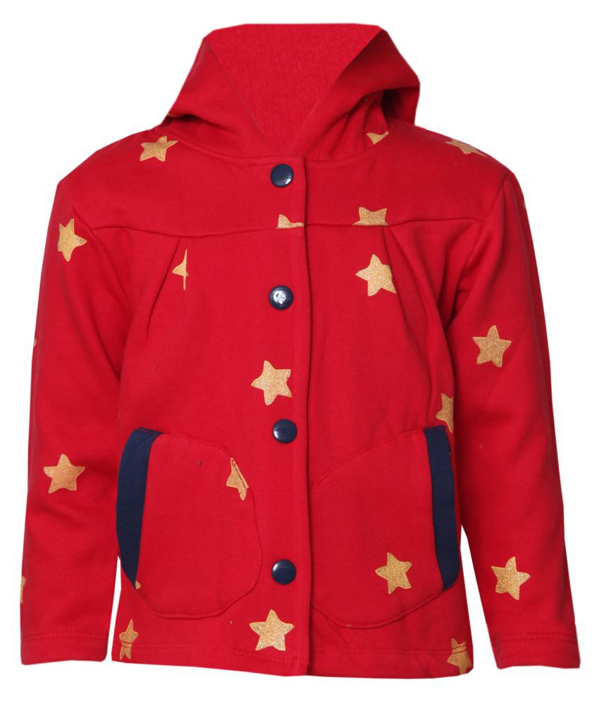 Tales & Stories Girls Red Hoodie