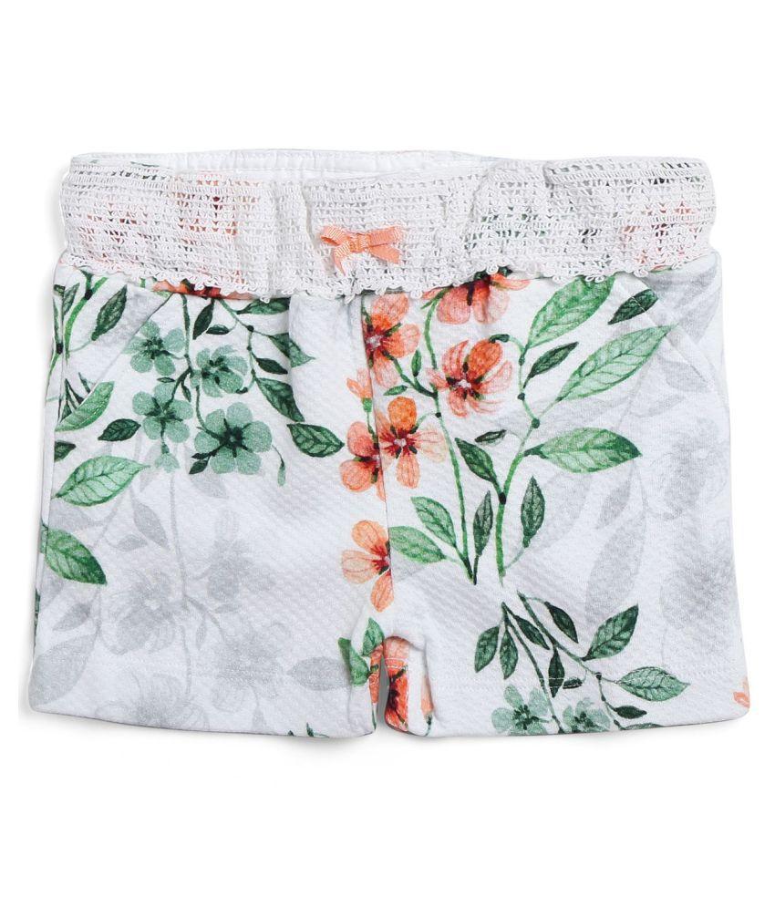 Knit printed shorts