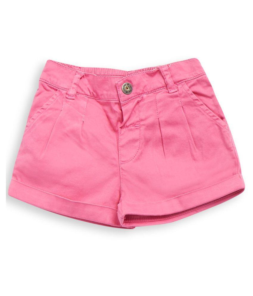 FS MiniKlub Girl's Woven Shorts-Pink