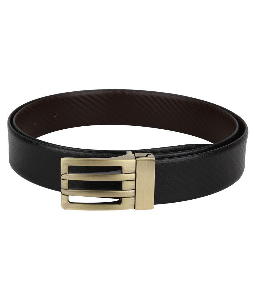 Gatasmay Black Leather Formal Belts