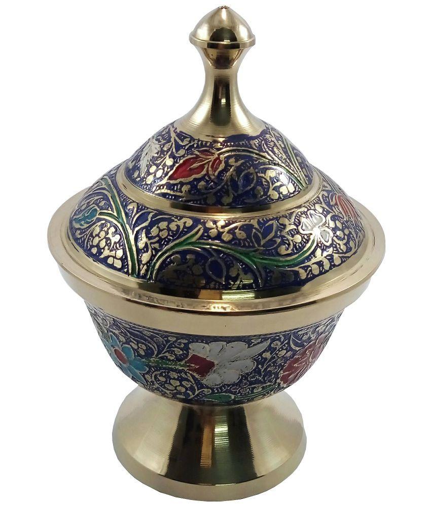 MOZO HUB MOZOHD0053 Brass Tea/Coffee/Sugar Container Set of 1