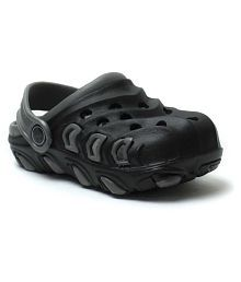 Phedarus Comfortable Clogs for Boys - Black & Grey