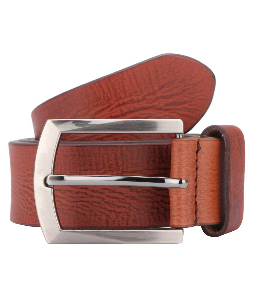 Bulls Hide Tan Leather Casual Belts