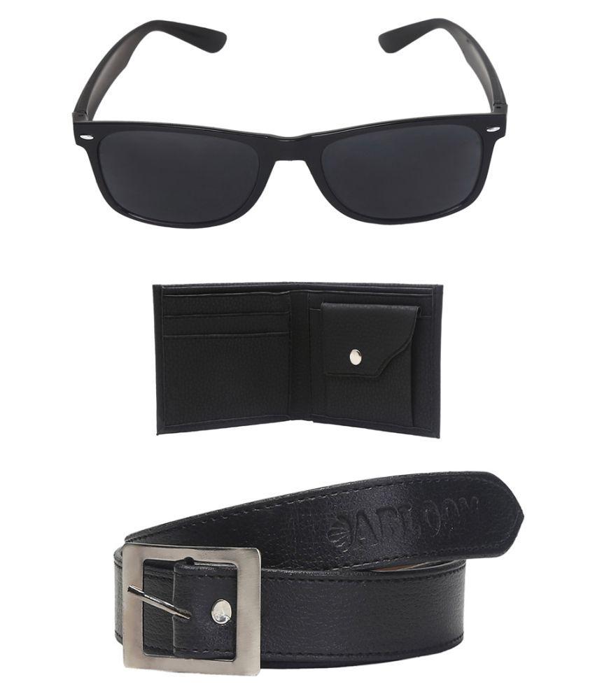 Abloom Black PU Formal Belts
