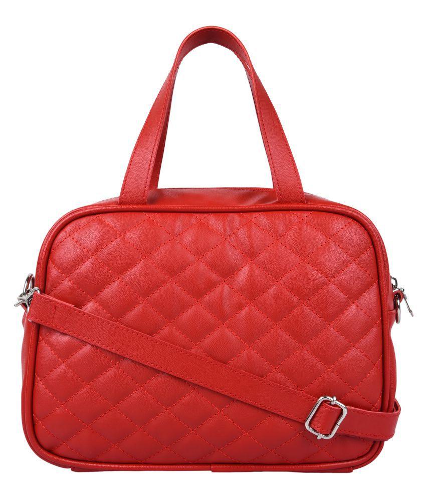 Anekaant Red P.U. Sling Bag