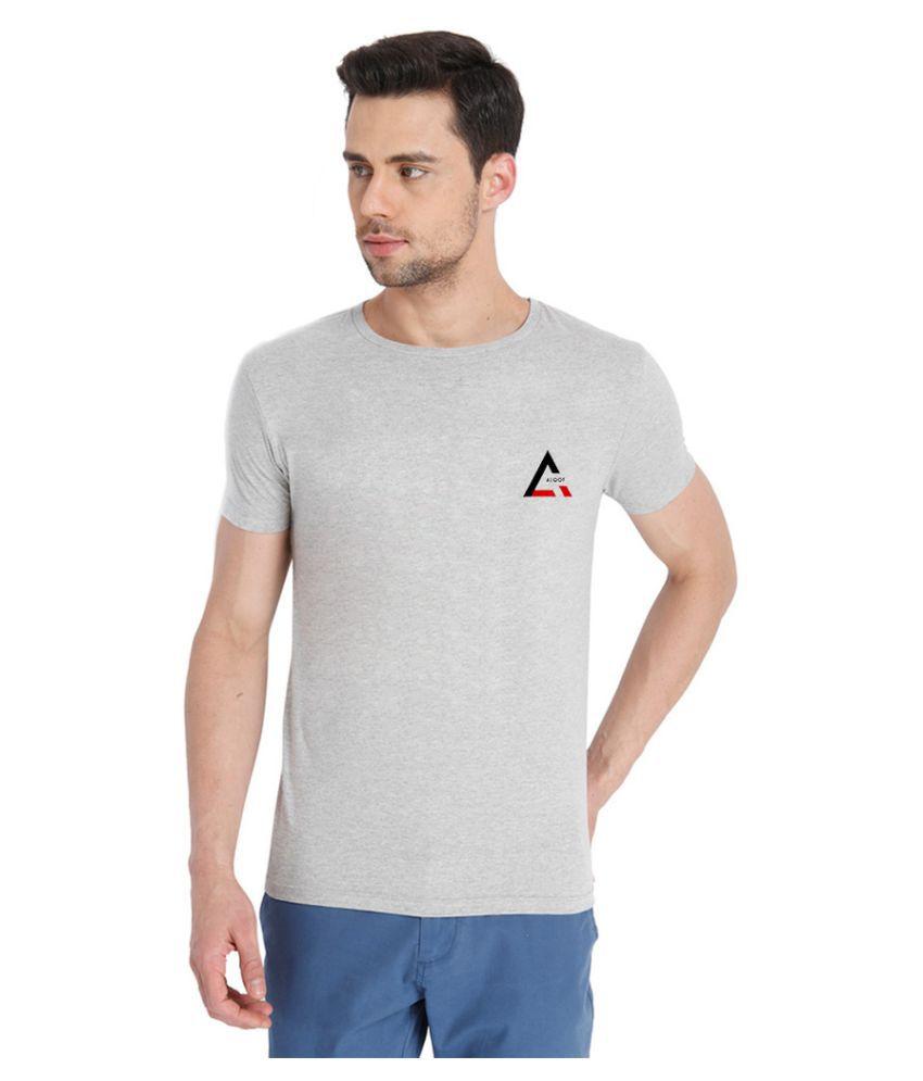Aloof Grey Round T-Shirt