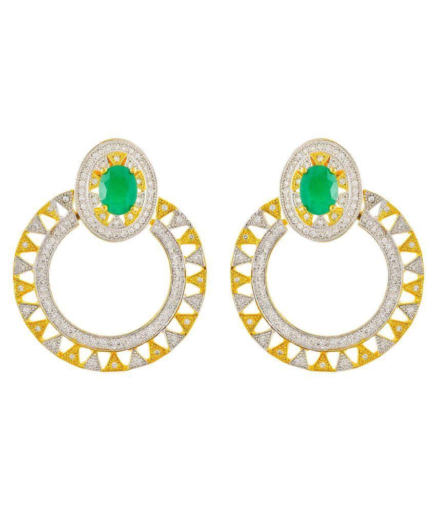 Contemporary Modern Designer Chandbali Earring for Women and Girls