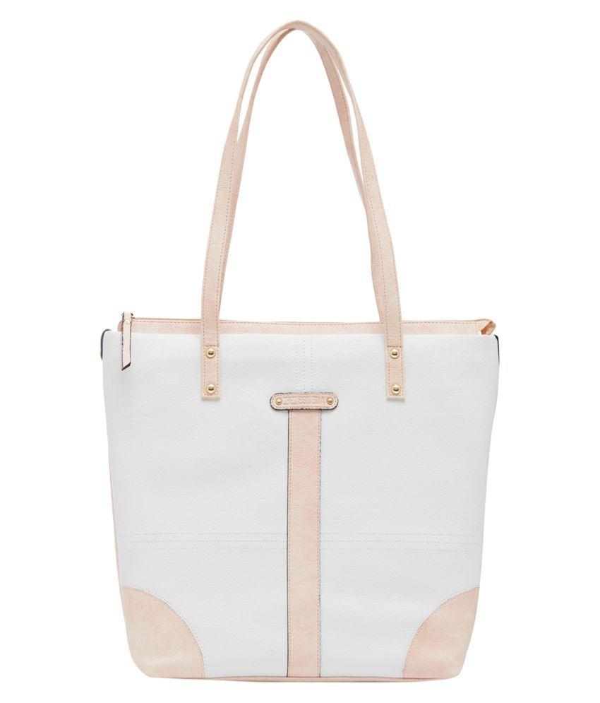 ESBEDA White P.U. Shoulder Bag