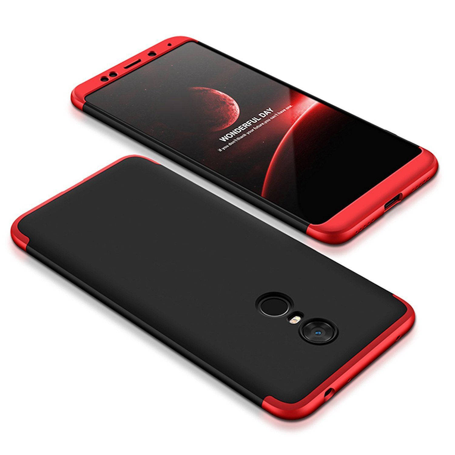 reputable site e2717 0b255 Xiaomi Redmi Note 5 Plain Cases Slim Fit Shock Proof 360 degree protection  2Bro - Red