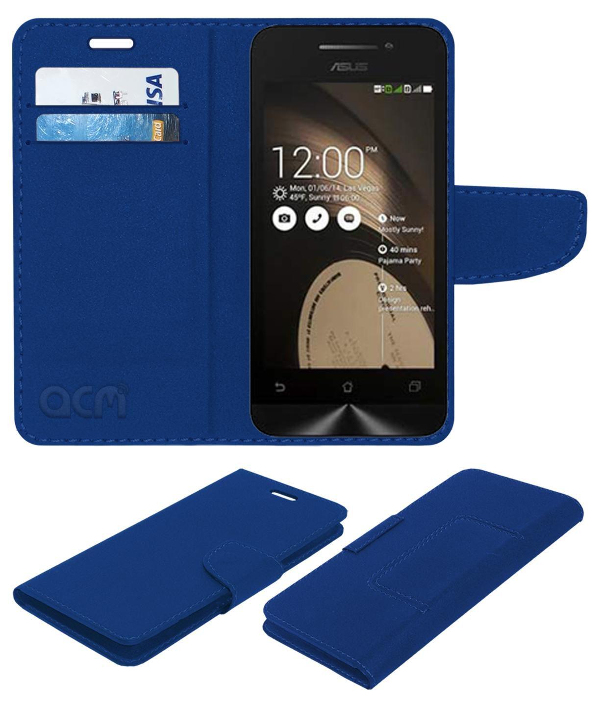 Asus Zenfone 4 Flip Cover by ACM - Blue