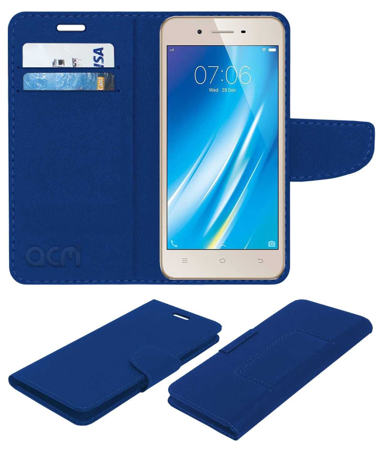 Vivo Y53 Flip Cover by ACM - Blue