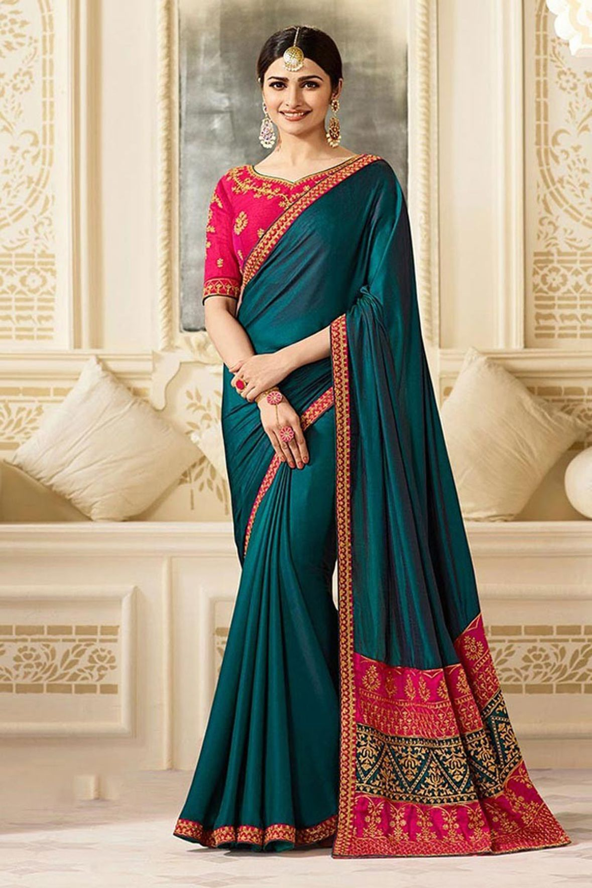 IndianEfashion Multicoloured Silk Saree