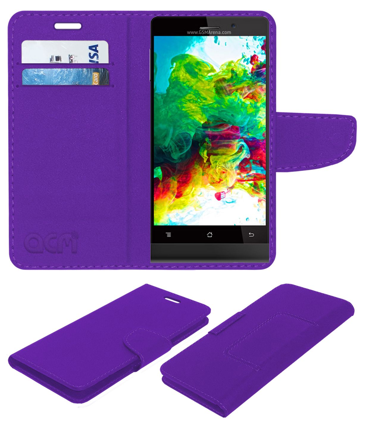 Karbonn Titanium Octane Plus Flip Cover by ACM - Purple