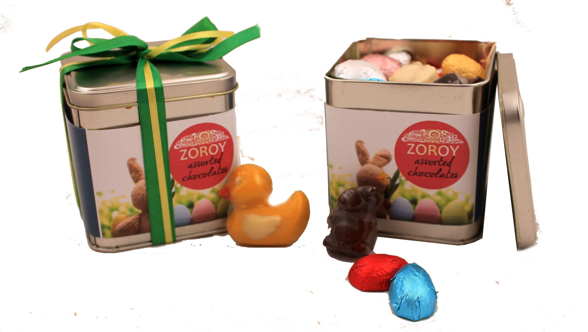 Zoroy Luxury Chocolate Chocolate Tin Easter Chocolate Gift 500 gm