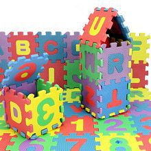 3Inch Kids Educational Puzzle With Added Fragrance Multicolor EVA Toys English Alphabets A to Z & Numbers 1 to 10 (36 Pieces)