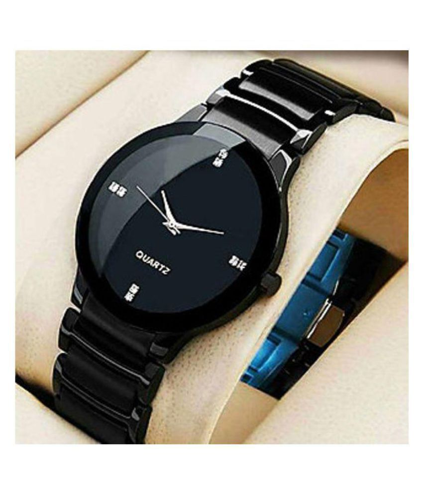 best cheap 4cc0a 259f8 Salman Khan Designer Black Watch For Mens & Boys( iik black )