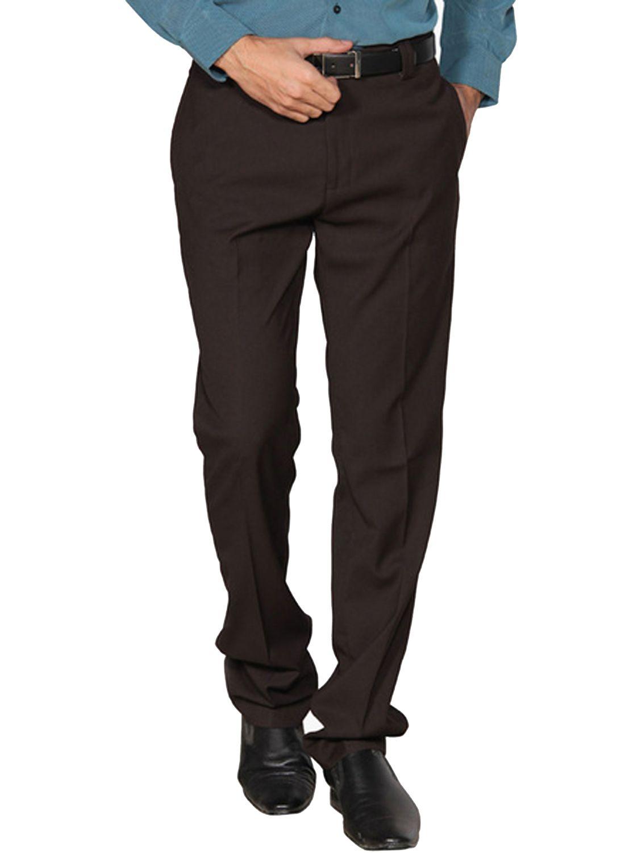 Buke Coffee Regular -Fit Flat Trousers