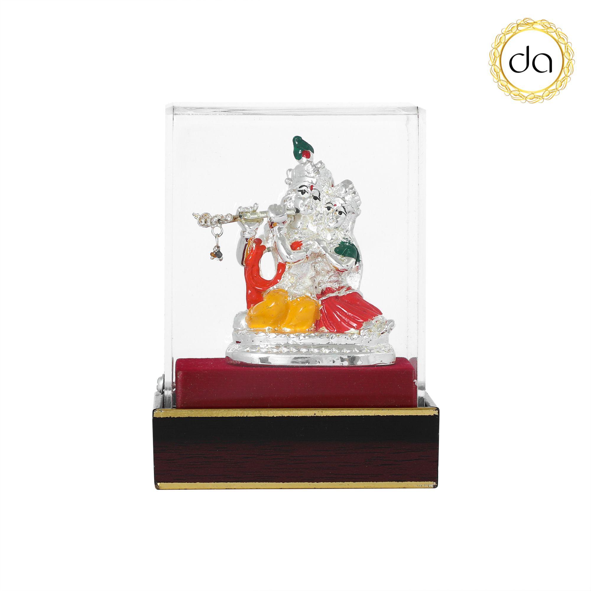 DEV AASTHA Krishna Silver Idol