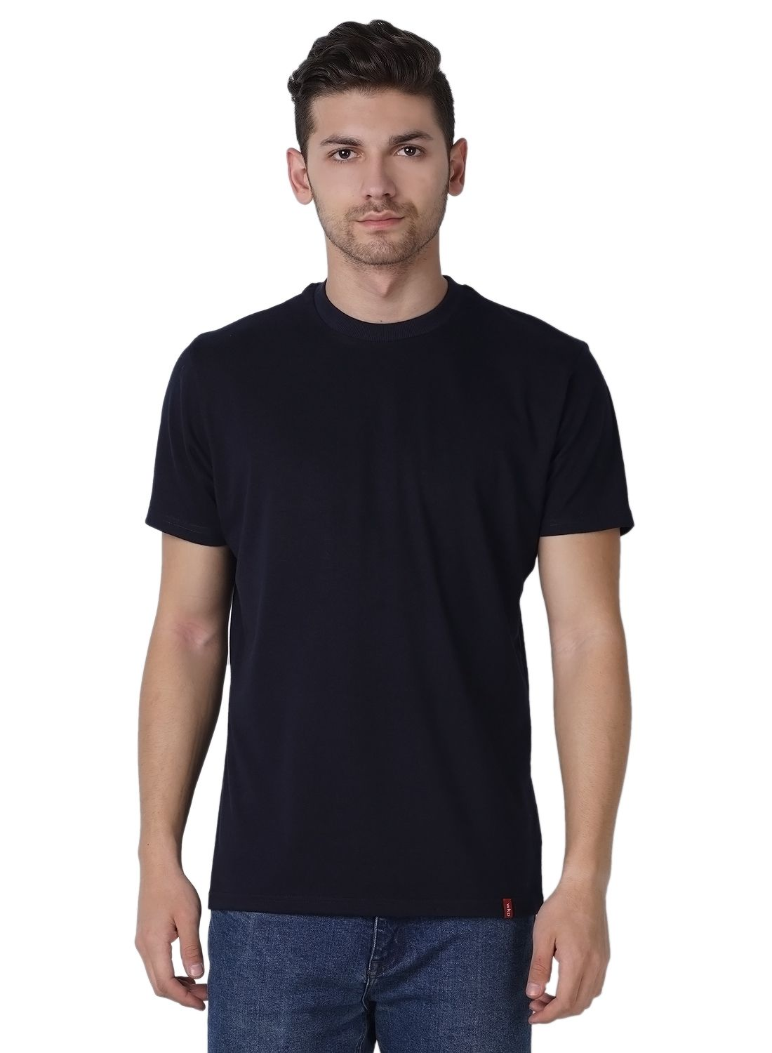 Wake Up Competition Navy Round T-Shirt Pack of 1