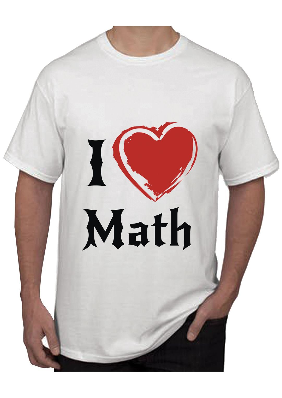 RITZEES White Dry Fit Polyester T-Shirt On I Love Math