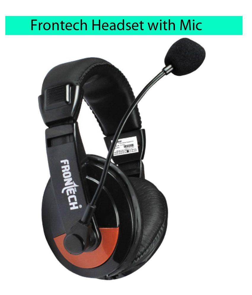 Frontech JIL- 3442 Over Ear Wired With Mic Headphones/Earphones