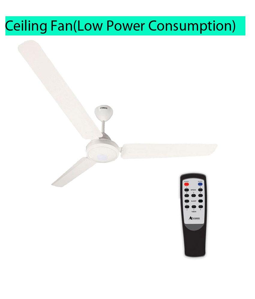Gorilla E1 1200 mm Energy saving remote control Ceiling Fan White