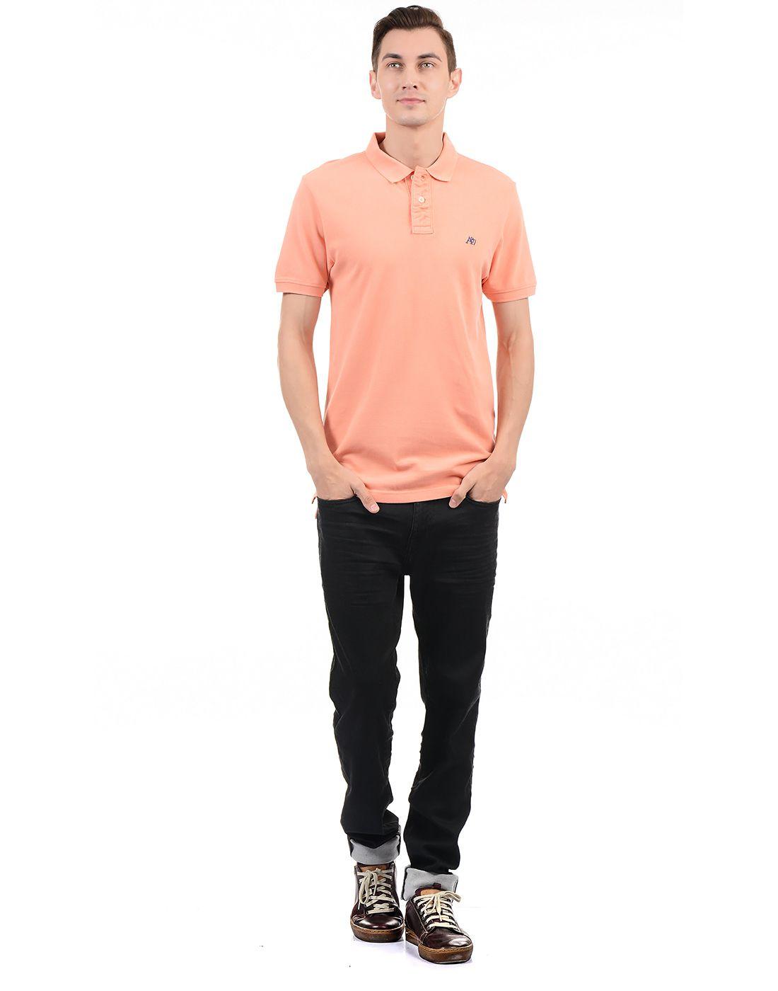 1b449feae Aeropostale Orange Regular Fit Polo T Shirt - Buy Aeropostale Orange ...