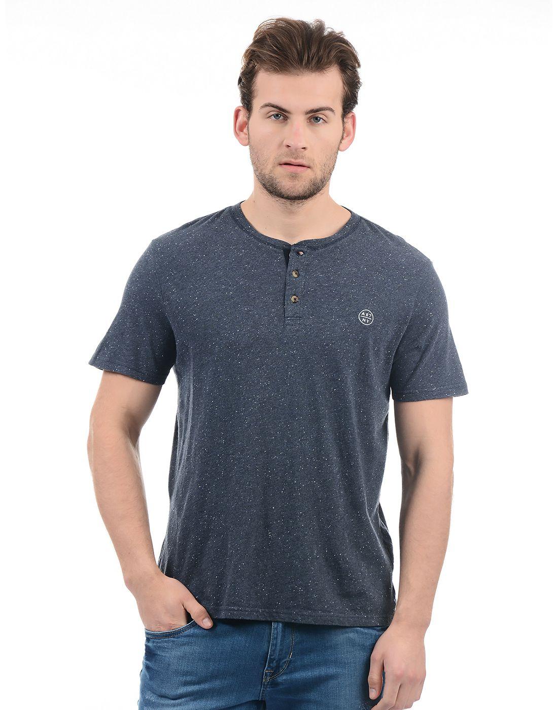 Aeropostale Navy Round T-Shirt