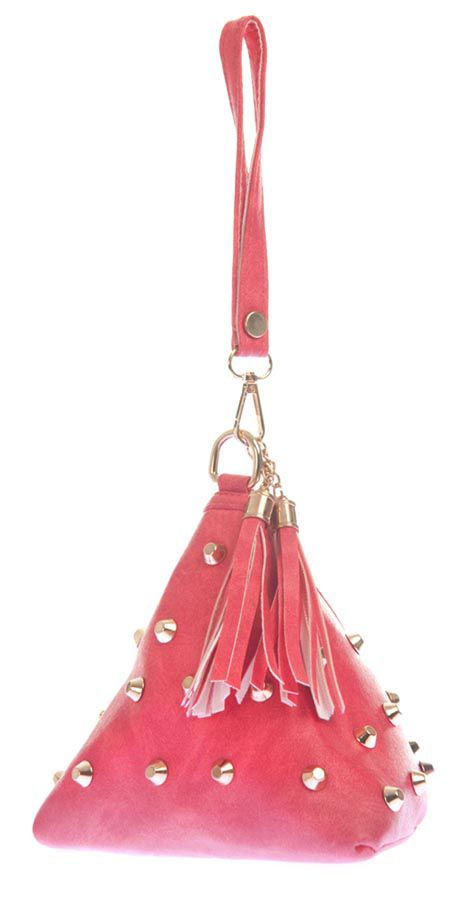Aliado Pink Faux Leather Handheld