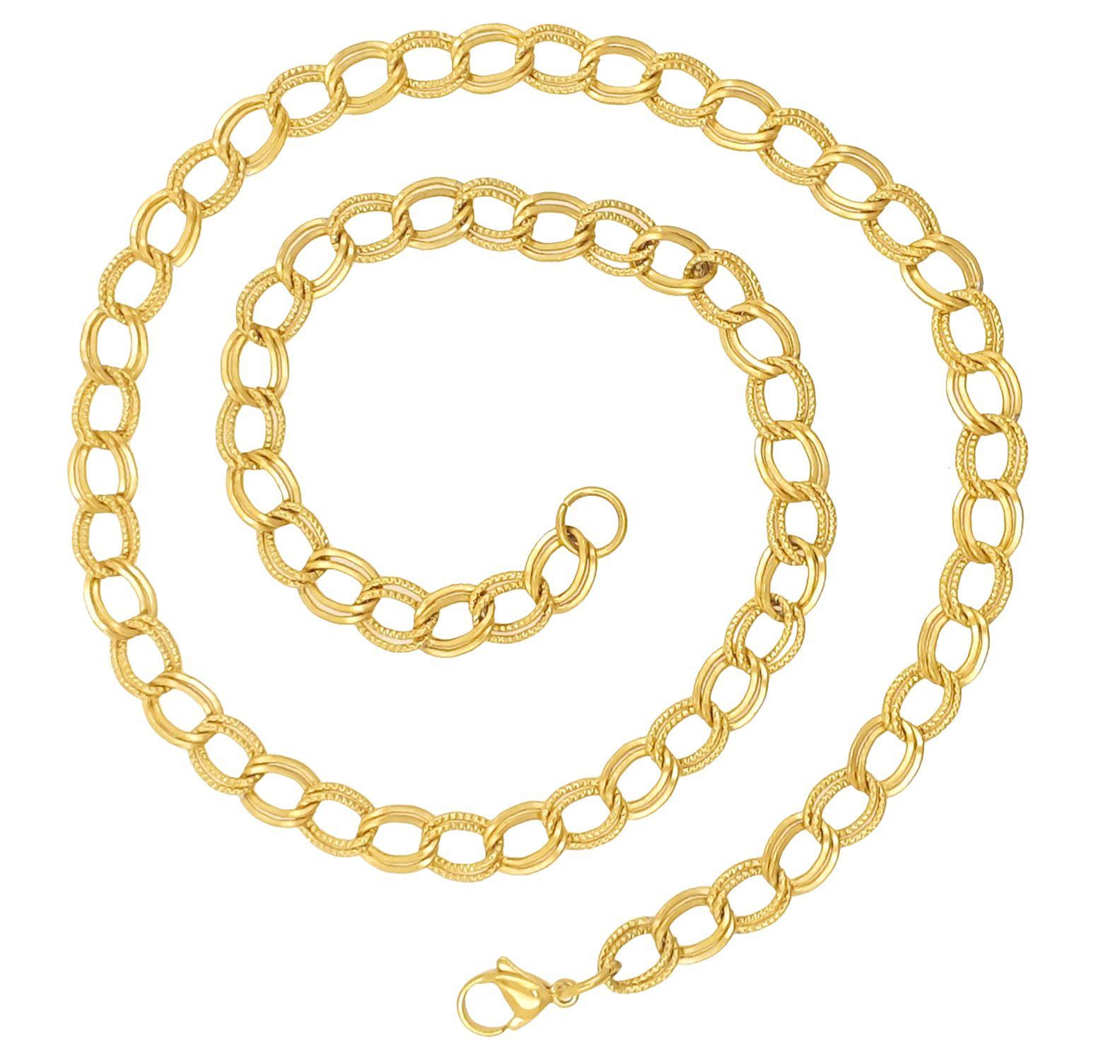 Saizen CH233 Designer Gold Tone Chain For Men, Boyfriend & Husband