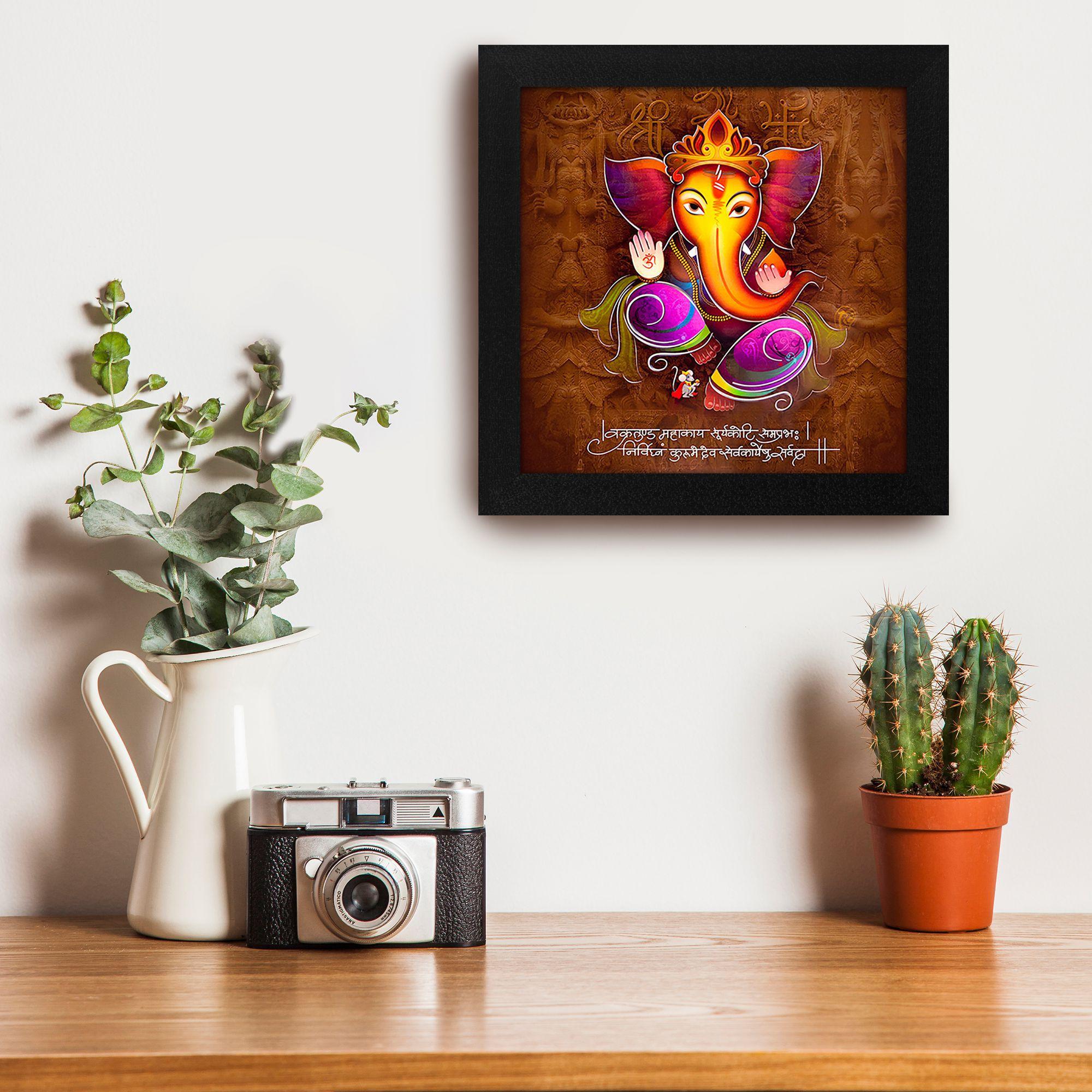 StoryHome Ganesha Wood Art Prints With