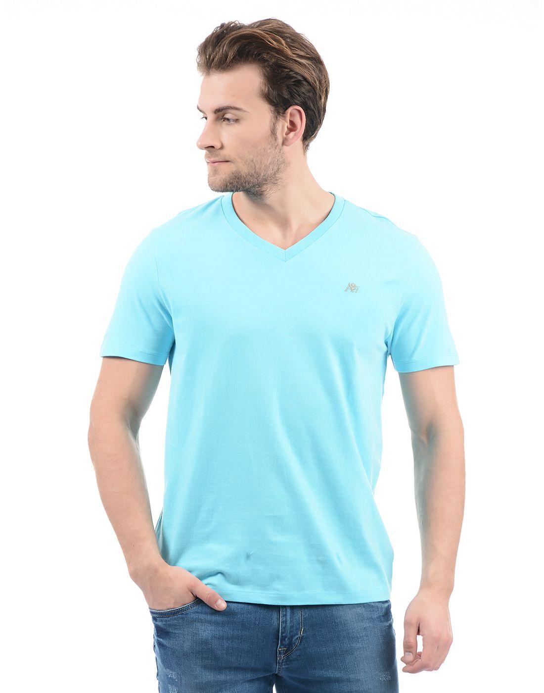 Aeropostale Blue V-Neck T-Shirt
