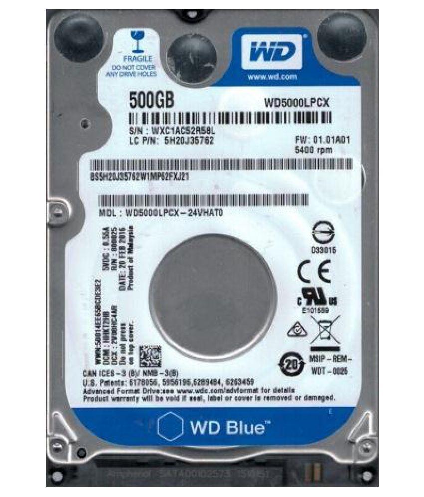 WD WD5000LPCX 500 GB Internal Hard Drive Internal Hard drive