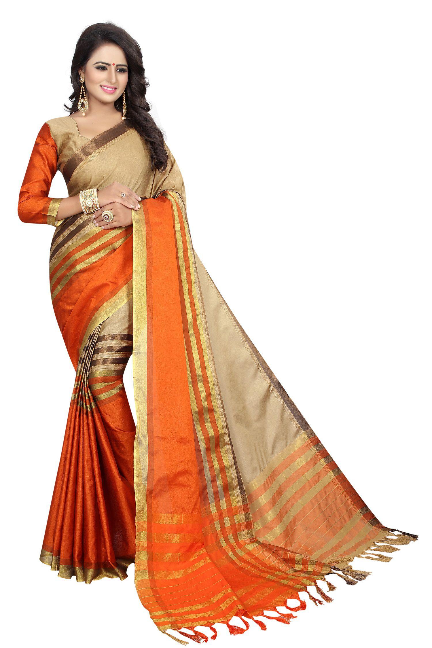 Malhari Multicoloured Cotton Silk Saree