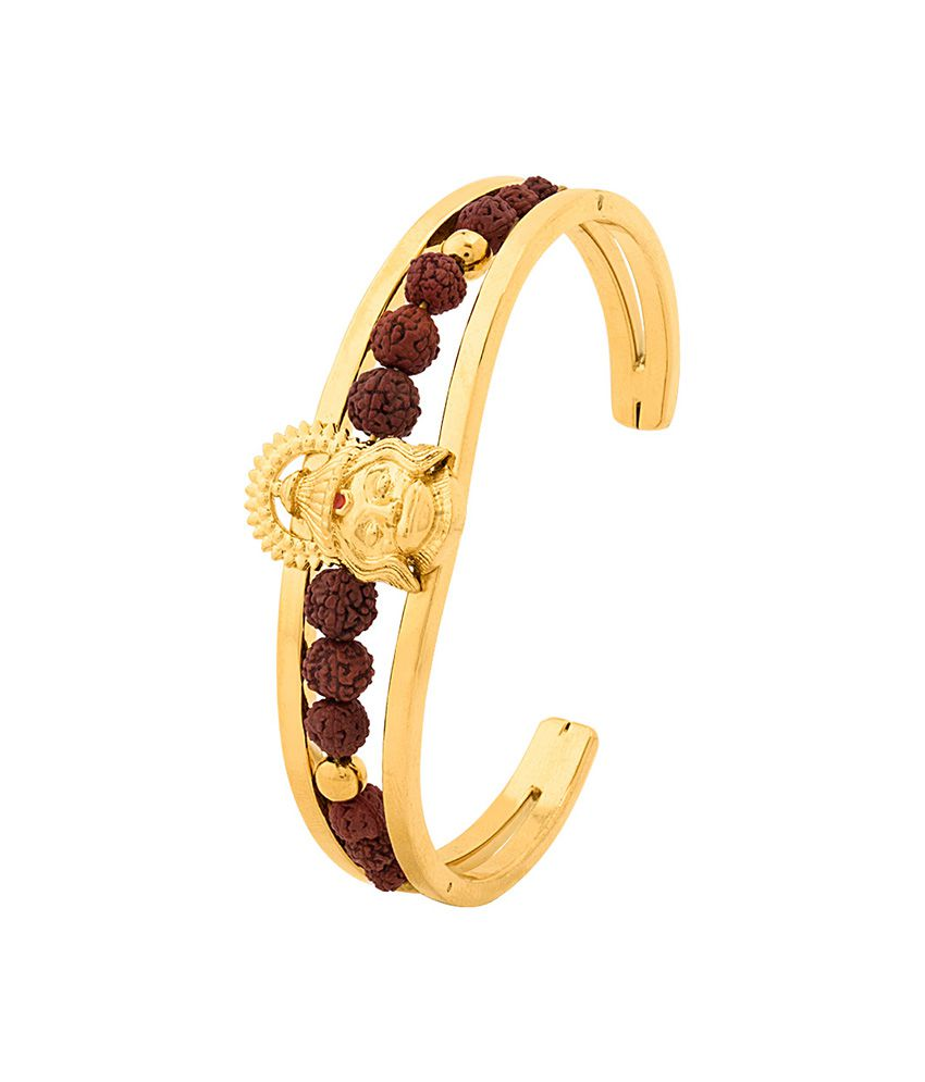 Dare By Voylla Faith And Trust Lord Hanuman Rudraksha Cuff Bracelet
