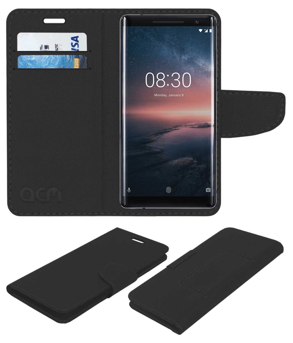 online store 3f420 3465f NOKIA 8 SIROCCO Flip Cover by ACM - Black