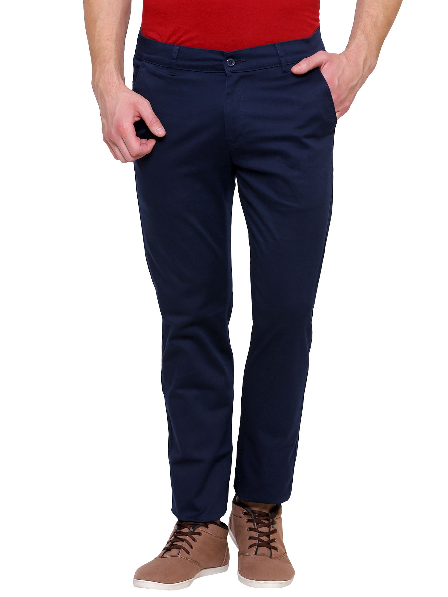 Inspire Clothing Inspiration Blue Slim -Fit Flat Chinos