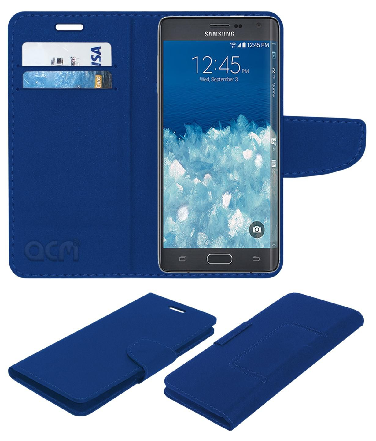 check out 96dfa 71c0f Samsung Galaxy Note Edge Flip Cover by ACM - Blue