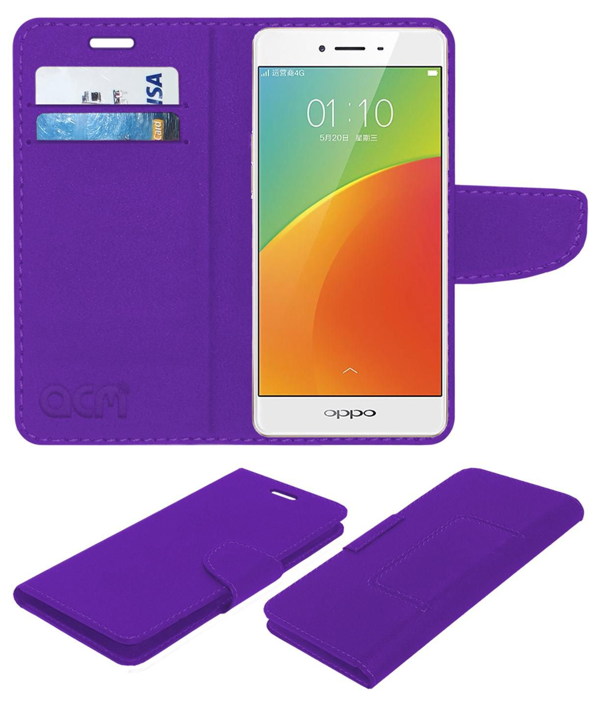 Oppo A53 Flip Cover by ACM - Purple