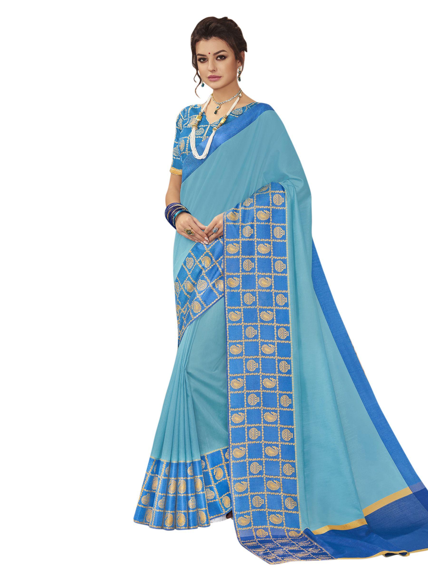 b6b8b65300 Stylee Lifestyle Green and Blue Banarasi Silk Saree - Buy Stylee Lifestyle  Green and Blue Banarasi Silk Saree Online at Low Price - Snapdeal.com