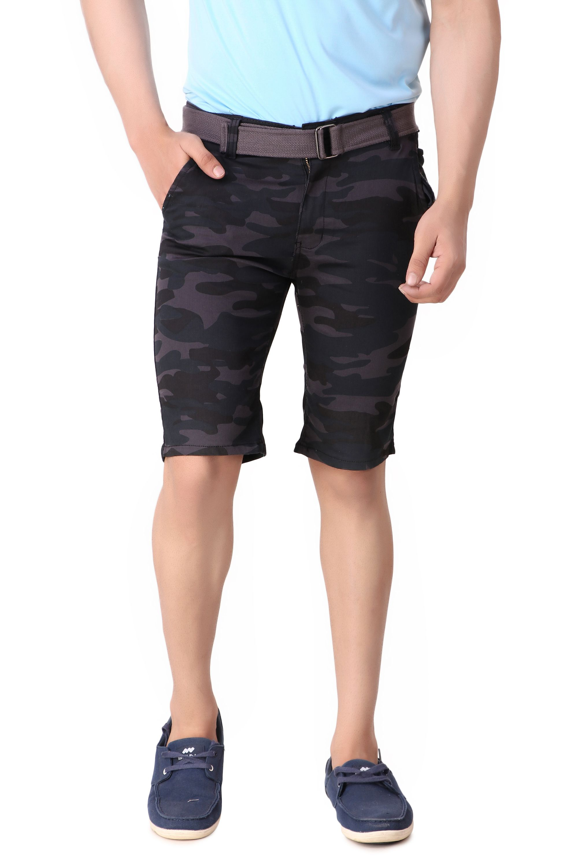 Verticals Army Stretchable Shorts for Men and Boys