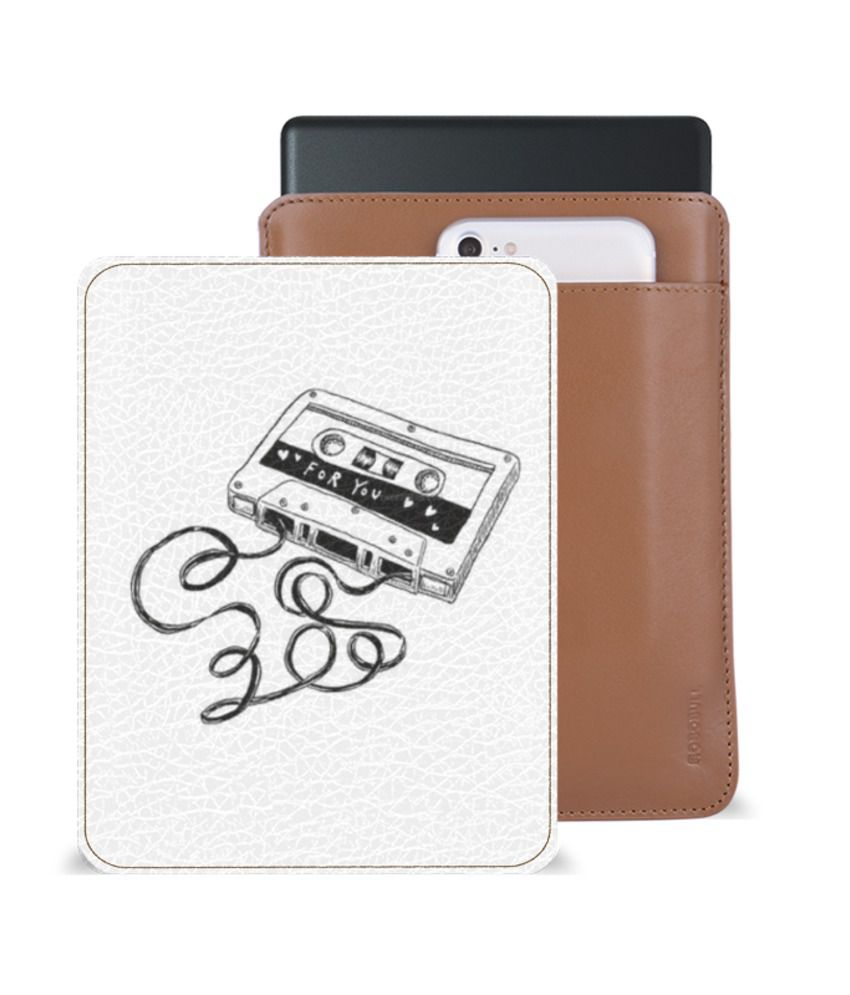 Kindle Voyage Tablet Sleeve By Robobull White